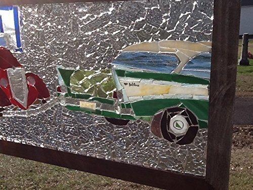 Classic Car Stained Glass Window Art Sun Catcher