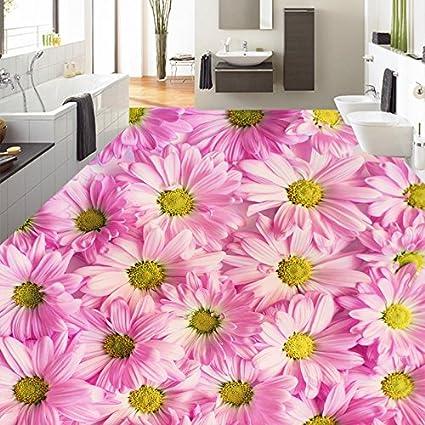 Lwcx Custom Photo 3d Wallpaper Pastoral Pink Chrysanthemum