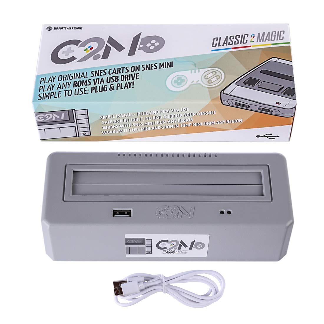 YIFAN Classic 2 Magic Plays for Original SNES Game Carts, High Compatible with Any SNES Region