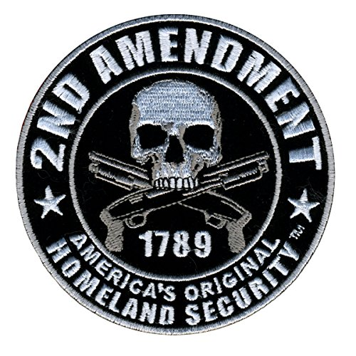 Hot Leathers, 2nd AMENDMENT - HOMELAND SECURITY with Skulls & Over Crossed Pistols