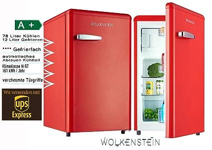 AuBergewohnlich Retro Kühlschrank Mit Gefrierfach Feuer Rot KS 95RT FR A+ 90 Liter Nostalgie  Design: Amazon.de: Elektro Großgeräte