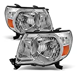 05-11 Toyota Tacoma Pickup Truck Headlights Front Lamp Direct Replacement Pair Left + Right
