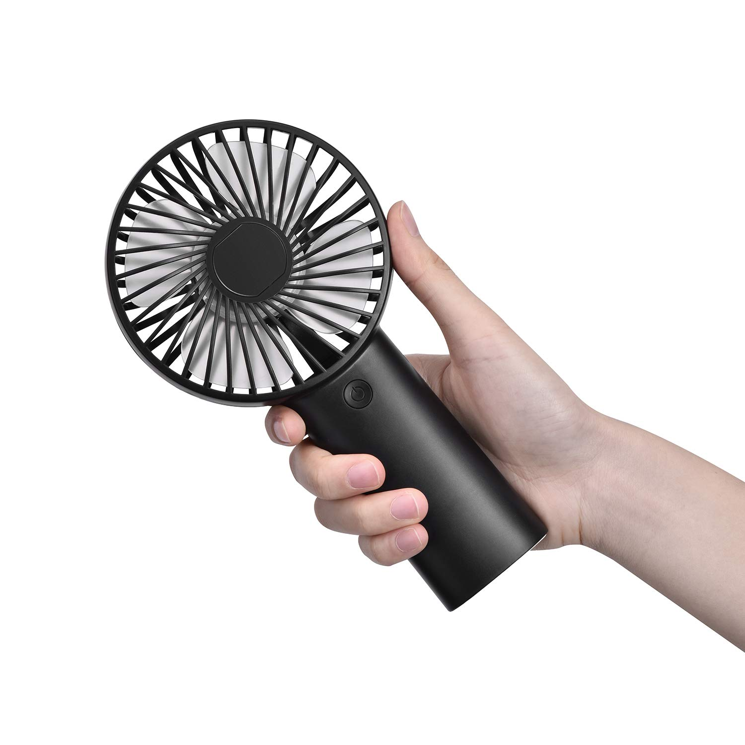 Mini Handheld Fan Portable Fan,USB 4000mAh Battery Operated Rechargeble Hand Held Fan,8-18 Working Hours with 3 Speed Adjustable for Home Office Traveling Black