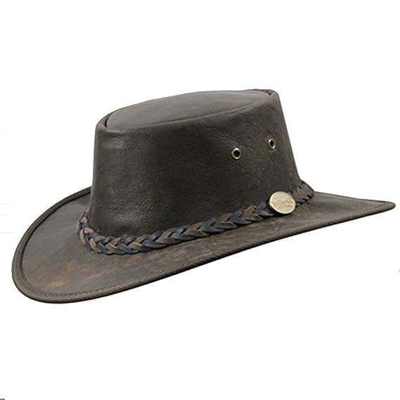 Barmah Australian Kangaroo Leather Hat (L 58-59cm)  Amazon.co.uk  Clothing 2fffcd92f851