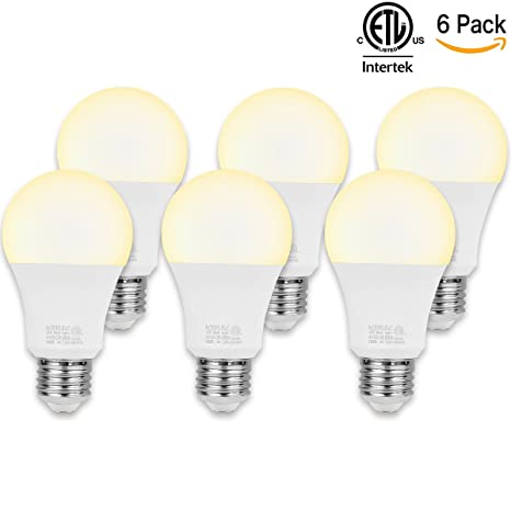 LED Light Bulbs 75 Watt Equivalent ( 11w ), ICEELEC A19 E26 1000 Lumens Soft
