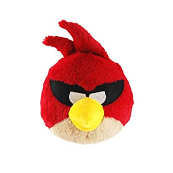 Angry Birds Commonwealth Toy CW93023 Peluche grande, color rojo