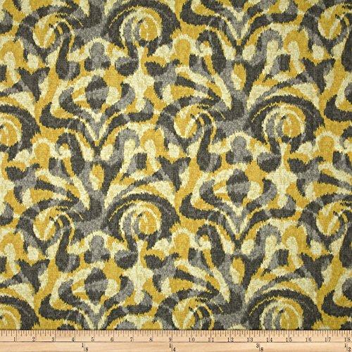 (Duralee Davi Damask Yellow Fabric By The Yard )