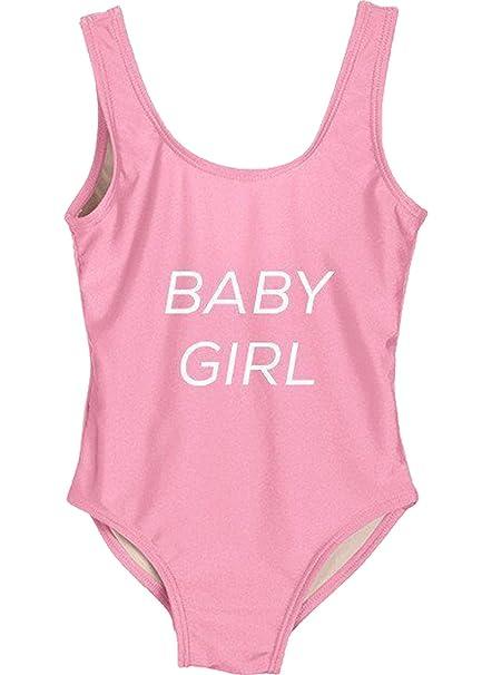 76061e112b30 Amazon.com  Fashion Show Baby Girl Flamingo Fairy Print Bikini One ...
