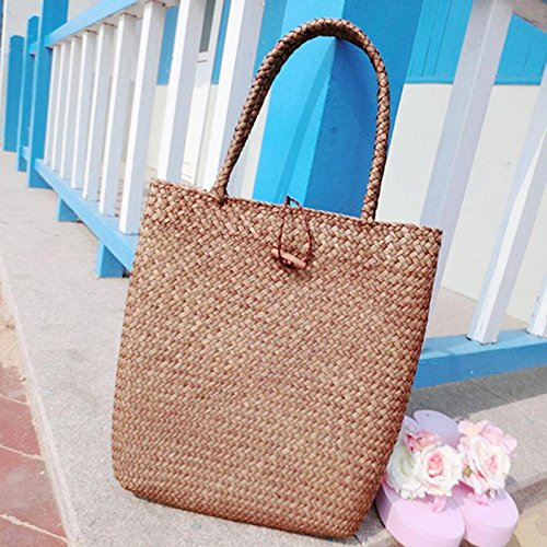 JD Million shop Beach Bag 2017 Summer Big Straw Bags Handmade Woven Tote Women Travel Handbags Luxury Designer Vintage Shopping Hand Bags