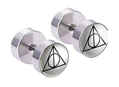 Amazon Com Harry Potter Deathly Hallows Premium Quality Silvertone