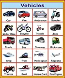 buy vehicles chart for kids modes of transport chart for kids book online at low prices in. Black Bedroom Furniture Sets. Home Design Ideas
