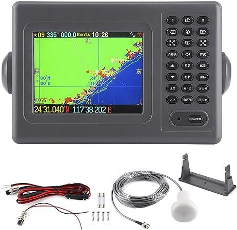 GPS marino da 10,4 pollici Plotter cartografico Navigazione navale Display LCD IPX6 Impermeabile con allarme sonoro per XINUO-MAP C-Map 【Regalo di Natale】Plotter cartografico GPS Navigazione navale