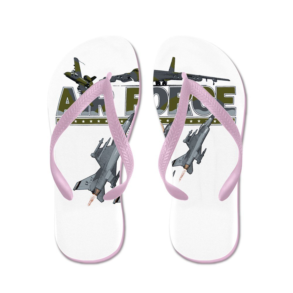Royal Lion Women's US Air Force Planes Fighter Jets Rubber Flip Flops Sandals