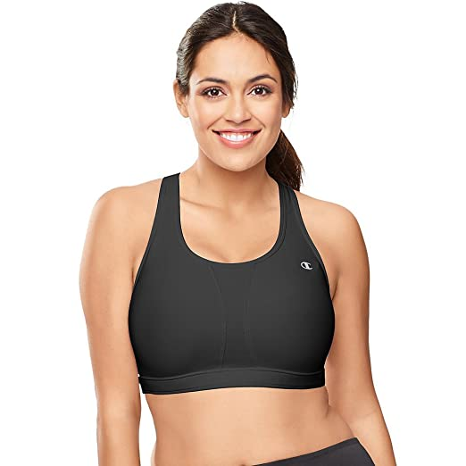 cb1a898afe Champion Womens Mesh-Vented Compression Plus-Size Sports Bra at Amazon  Women s Clothing store  Bras