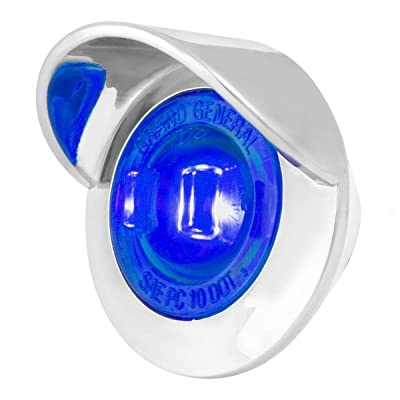 """GG Grand General 75255 Blue/Blue LED Light (1"""" Mini 1 with Clear Pl. Bezel and Visor): Automotive"""