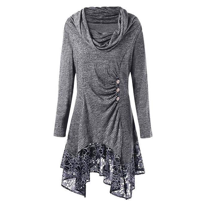 new product dcd25 58118 Damen Winterkleid Elegant UFODB Frauen Nähen Spitze Lange ...