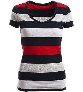 Alle Großen Original Tommy Hilfiger Damen T-Shirt Signature T-Shirt
