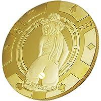 Baoblaze Monnaie Commémorative Sexy Femme Pièce Jeton de Jeu Collection Cadeau Hommes - b