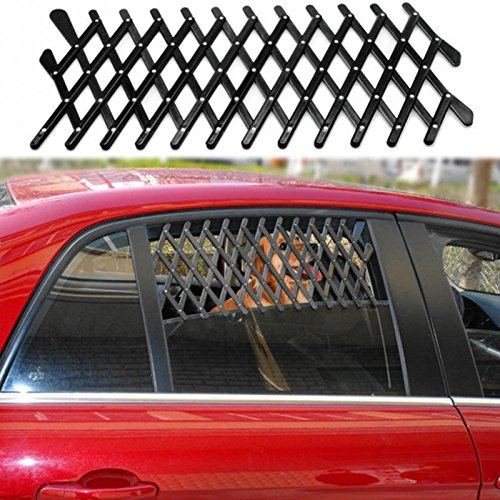 Kangkang Pet Dog Travel Car Window Grill Vent Ventilator Guard Mesh Security Lattice Telescopic Fence 24111cm ()