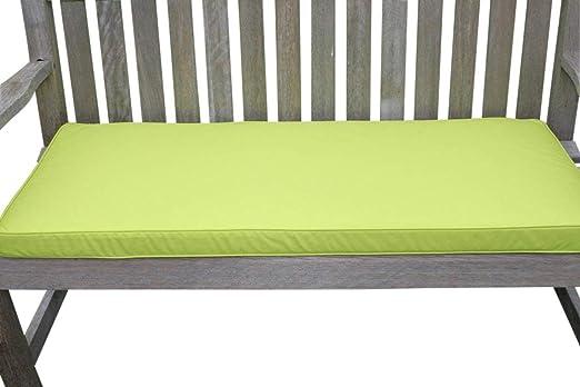 Cojín para muebles de jardín - Cojín para banco de jardín de 2 plazas - Color verde lima: Amazon.es: Jardín