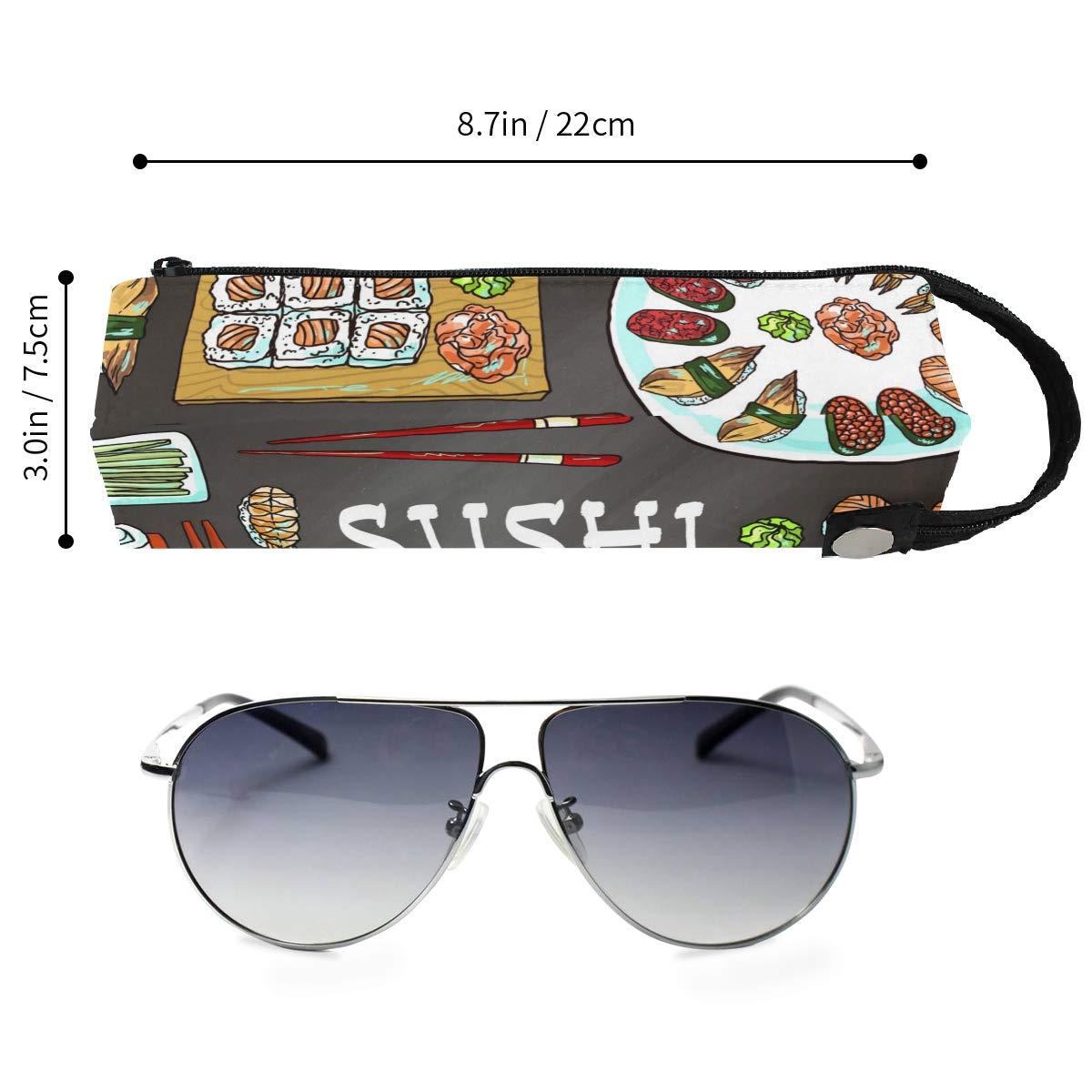 My Little Nest Eyeglass Sunglasses Holder Pouch Bag Sushi Multi Function Zipper Pen Case Pencil Bag Organizer