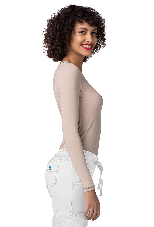 Adar Uniforms M/édicaux T-Shirt Ajust/é /à Manches Longues /à Manches T-Shirt Blouse Tee pour Femmes