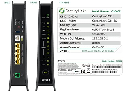 amazon com zyxel c3000z modem centurylink computers accessories rh amazon com CenturyLink Email Icon CenturyLink Bill Pay