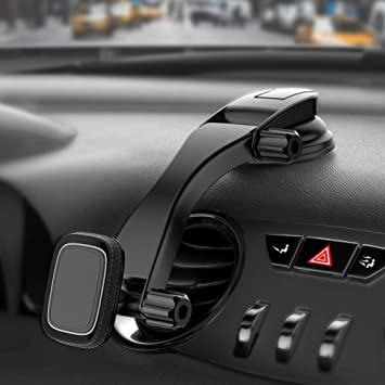Best Magnetic Car Phone Holder, Adjustable Mobile Phone Mount For Car  Dashboard Windscreen with Suction Cup Pad Compatible With iPad iPhone 7 8 X  Xr