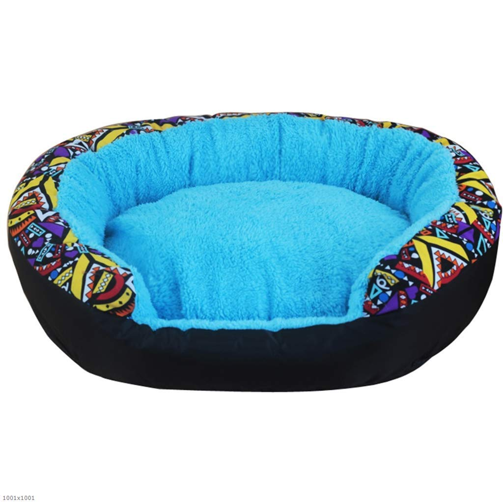 bluee X-Large bluee X-Large Pet Bed Kennel Warm Washable pet nest Kennel Small and Medium Kennel cat Litter cat House Washable Four Seasons Available,bluee,XL