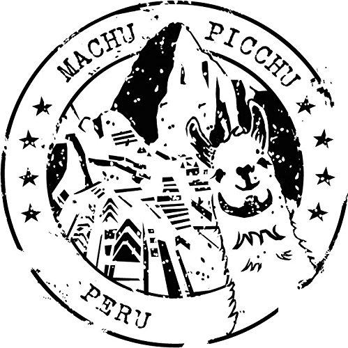 Machu Picchu Peru Grunge Travel Stamp Sticker Decal Design 5