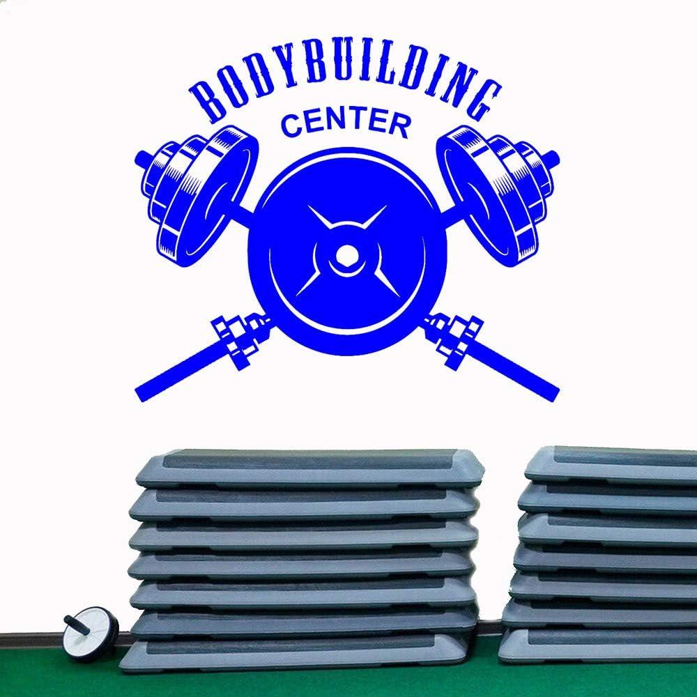 DLYD Centro de Culturismo Calcomanía de Pared Deportes Fitness Deportes Vinilo Pegatinas de Pared Accesorios de decoración del hogar Hombre Hole Dormitory 42x36cm
