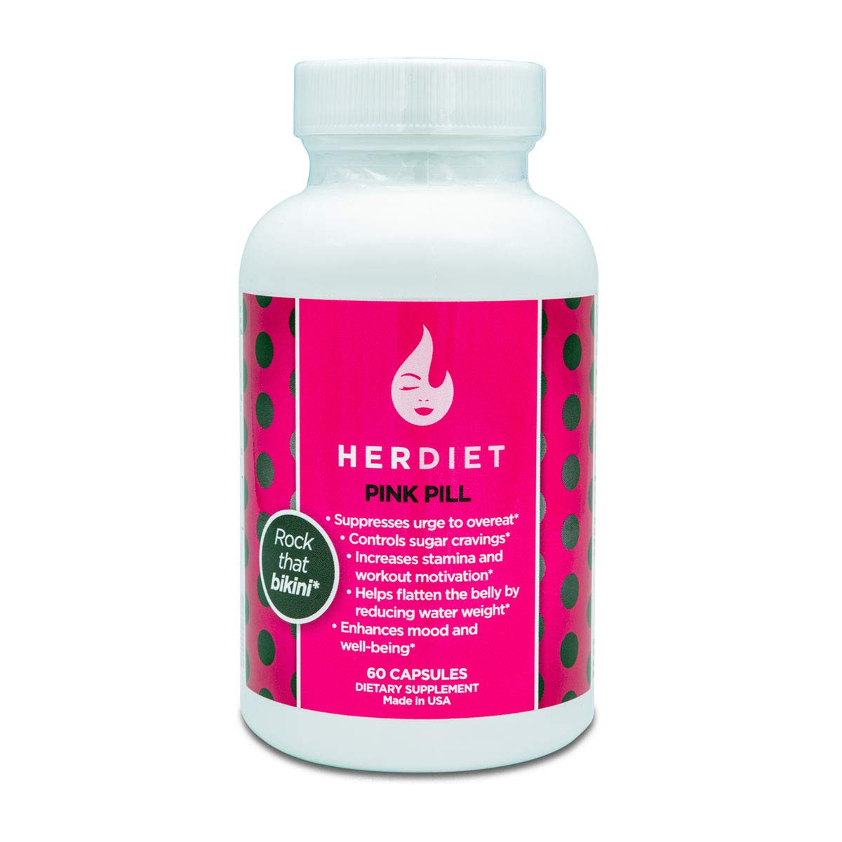 HER DIET Pink - Weight Loss Pills for Women - Thermogenic Fat Loss Supplement - Increased Energy - Appetite Suppressant - Prevent Overeating - Curb Cravings by HER DIET