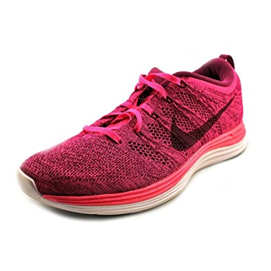 7836eb6c322f ... discount nike flyknit lunar 1 womens pink textile sneakers shoes new  display uk 7 95938 991aa