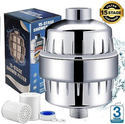 cromato Water Filter Man Filtro doccia KDF per rimuovere cloro e ridurre incrostazioni