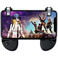 Mobile Game Trigger Controller Gamepad - KACOOL 2-in-1 Gamepad and Triggers Gaming L1R1 Sensitive Fire Shooter Button Aim Key with Gift Box for PUBG / Rules of Survival / Knives Out, Mobile Gaming Joysticks for Android iPhone