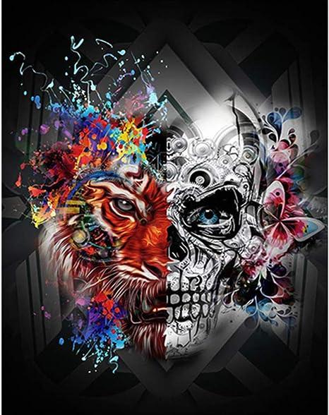 Acheter tableau peinture tete de mort online 4