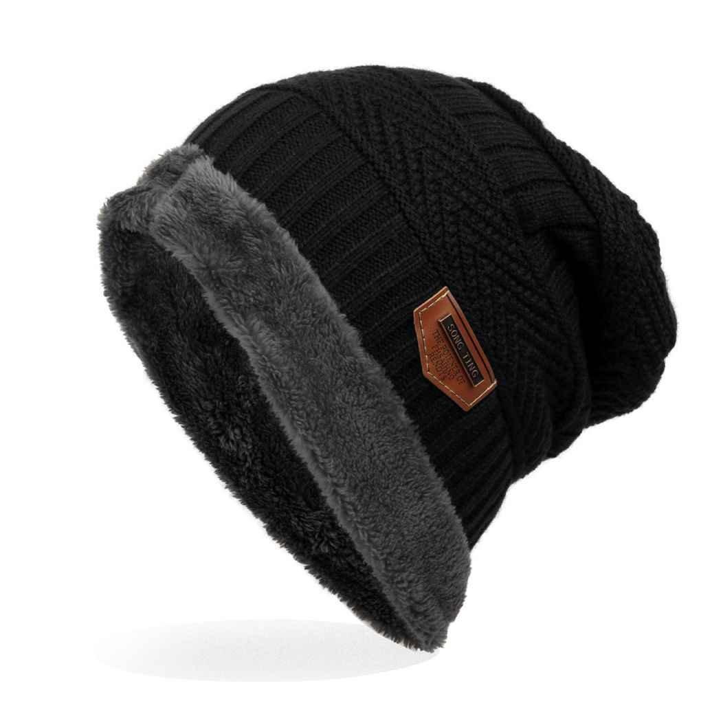Bobury Etichetta per Il Commercio Estero Capo a Maglia con Cappello in Velluto cap