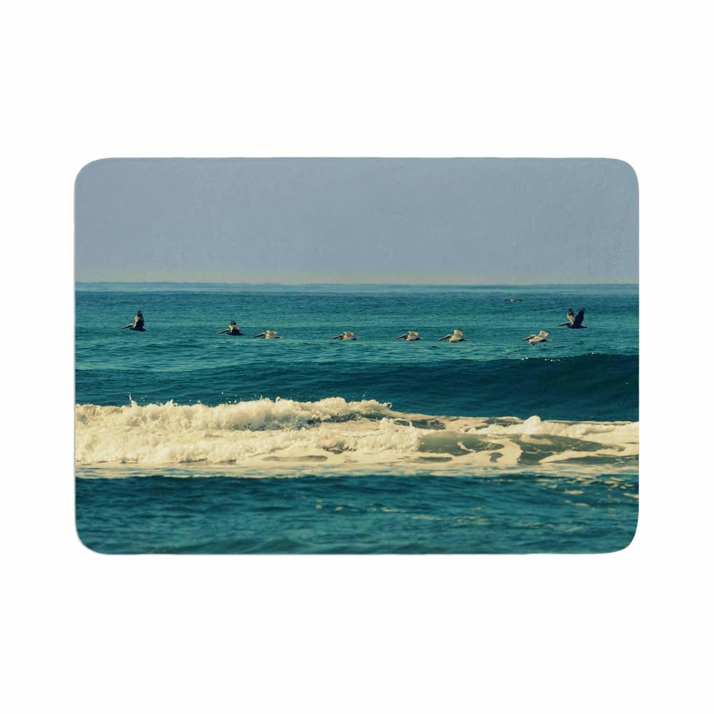 Kess InHouse Robin Dickinson Break Free /& Soar Teal Ocean Wave Memory Foam/Bath Mat 24 by 36