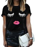 Haola Summer Fashion Women Cute Short Sleeve Printed Tops Casual T Shirt