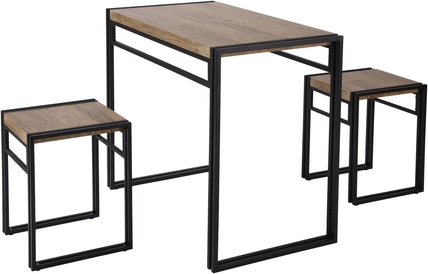 FIVEGIVEN 3 Piece Dining Bistro Table Set Indoor Kitchen Pub Table Set for Small Spaces Sonoma  sc 1 st  Amazon.com & Table u0026 Chair Sets | Amazon.com