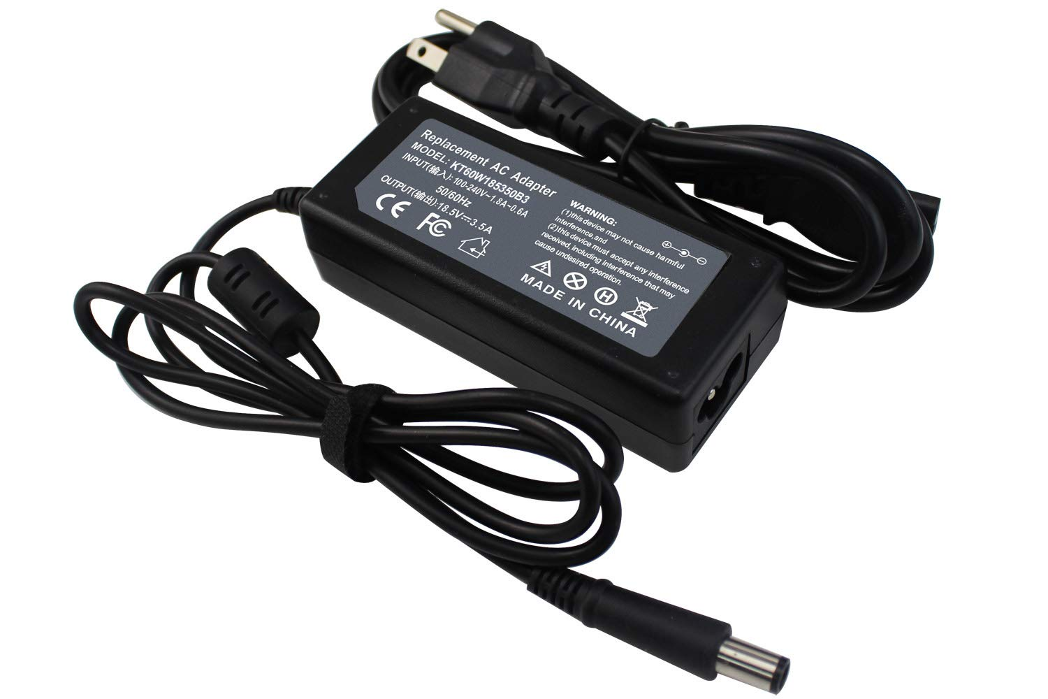 LNOCCIY 18.5V 3.5A 65W AC Adapter Laptop Charger for HP Pavilion G4 G6 G7 G60 G61 G71 G72 M6 DM4 DV4 DV5 DV6 DV7; EliteBook 8440p 2540p 2560p 2570p ...
