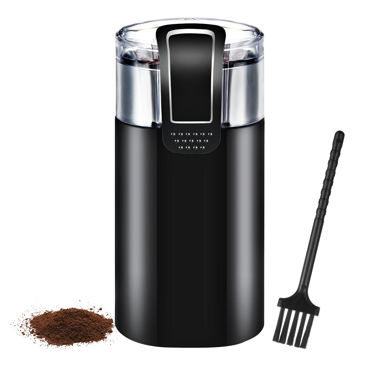 Homitt Electric Coffee Grinder, One-Touch Coffee Bean Grinder with Upgrade Noiseless Motor and 301 Stainless Steel Blades for Evenly and Versatile Grinding-Support Home and Office Portable Use