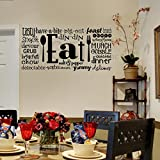 Eat Phrases Vinyl Lettering Wall Decal Sticker (21
