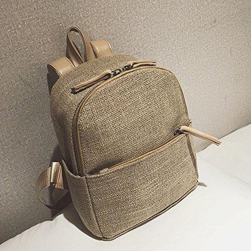 Dos Backpack Cartable College Femme À Sac À Dos Sac Main Femme Au Kaki Porté Sacs Kaki Dos Wx0Y18ndXX