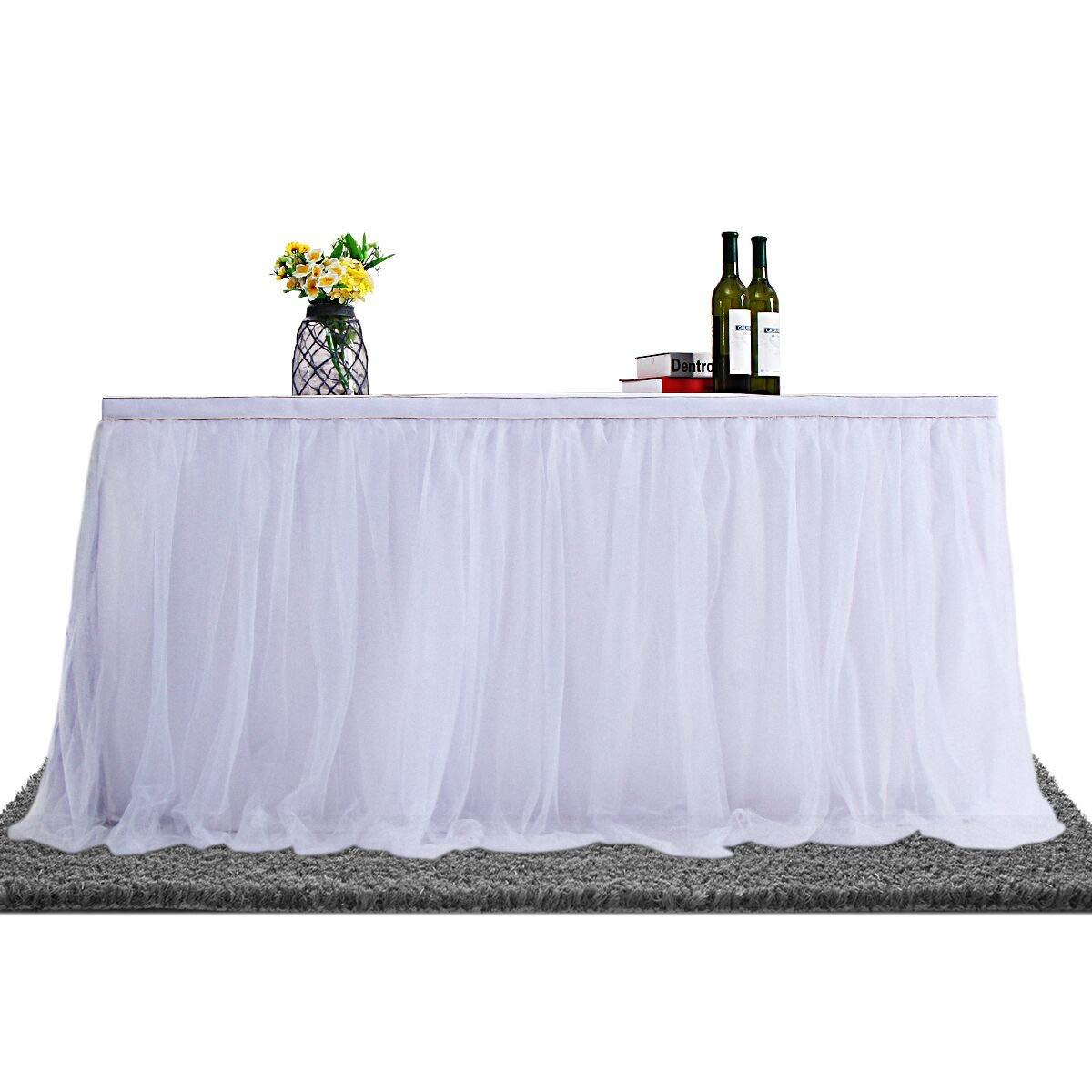 Falda de tul de alta gama para fiesta, boda, fiesta de cumpleañ os y decoració n del hogar, diseñ o de tul, color dorado fiesta de cumpleaños y decoración del hogar diseño de tul