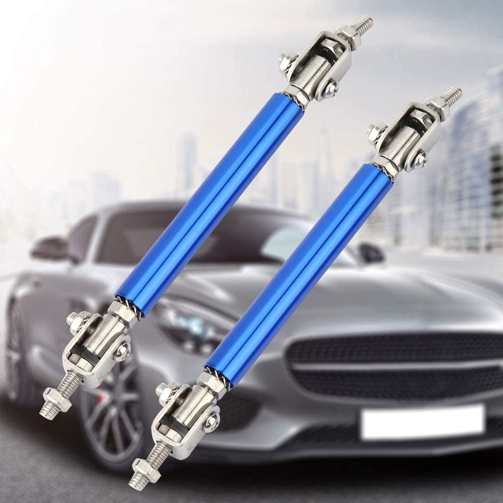 Car Bumper Protector,Akozon Car Bumper Protector Lip Rod 2Pcs 75mm Car Bumper ProtectorSplitter Strut Tie Bar Support Front Rear Universal Black