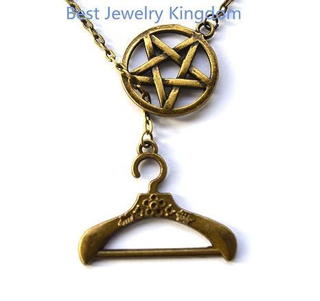 Puntas de collar, colgante de pentagrama, Wiccan, espiritual ...