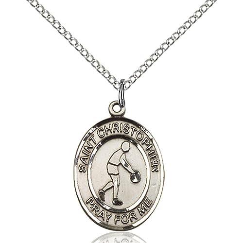 Bonyak Jewelry San Cristóbal - Colgante de Medalla de Baloncesto ...