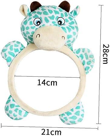 Espejo de control de seguridad del bebé Espejo retrovisor Espejo creativo Jaja forma de dibujos animados de la jirafa del asiento de coche de bebé espejo deformante inversa