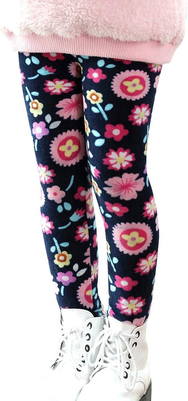 YFPICO Leggings con Stampa Invernale per Ragazze Leggings per Pantaloni Termici per Bambini